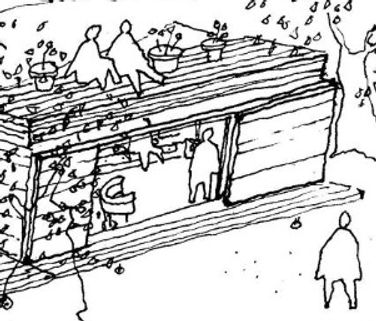 House on Wheels preliminary sketch detail