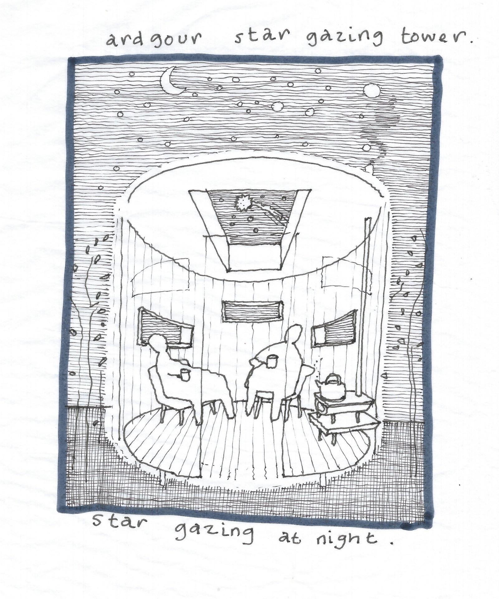 Ardgour stargazer sketch