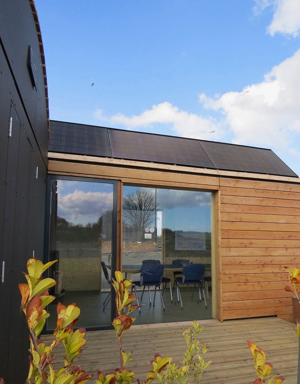 Off Grid office  Exterior -decking  area