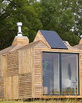 Brockloch Bothy integral solar panels