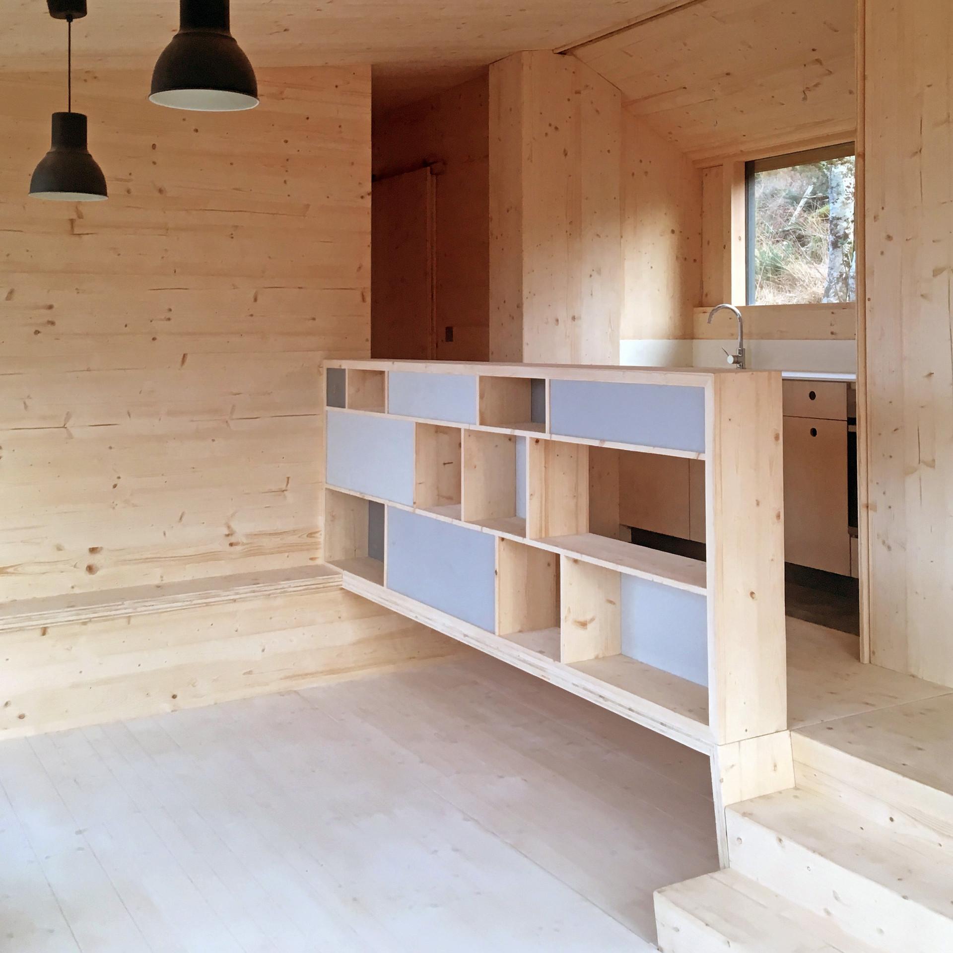 Cala Fearnadh Step Down House, ballustrade & split levels