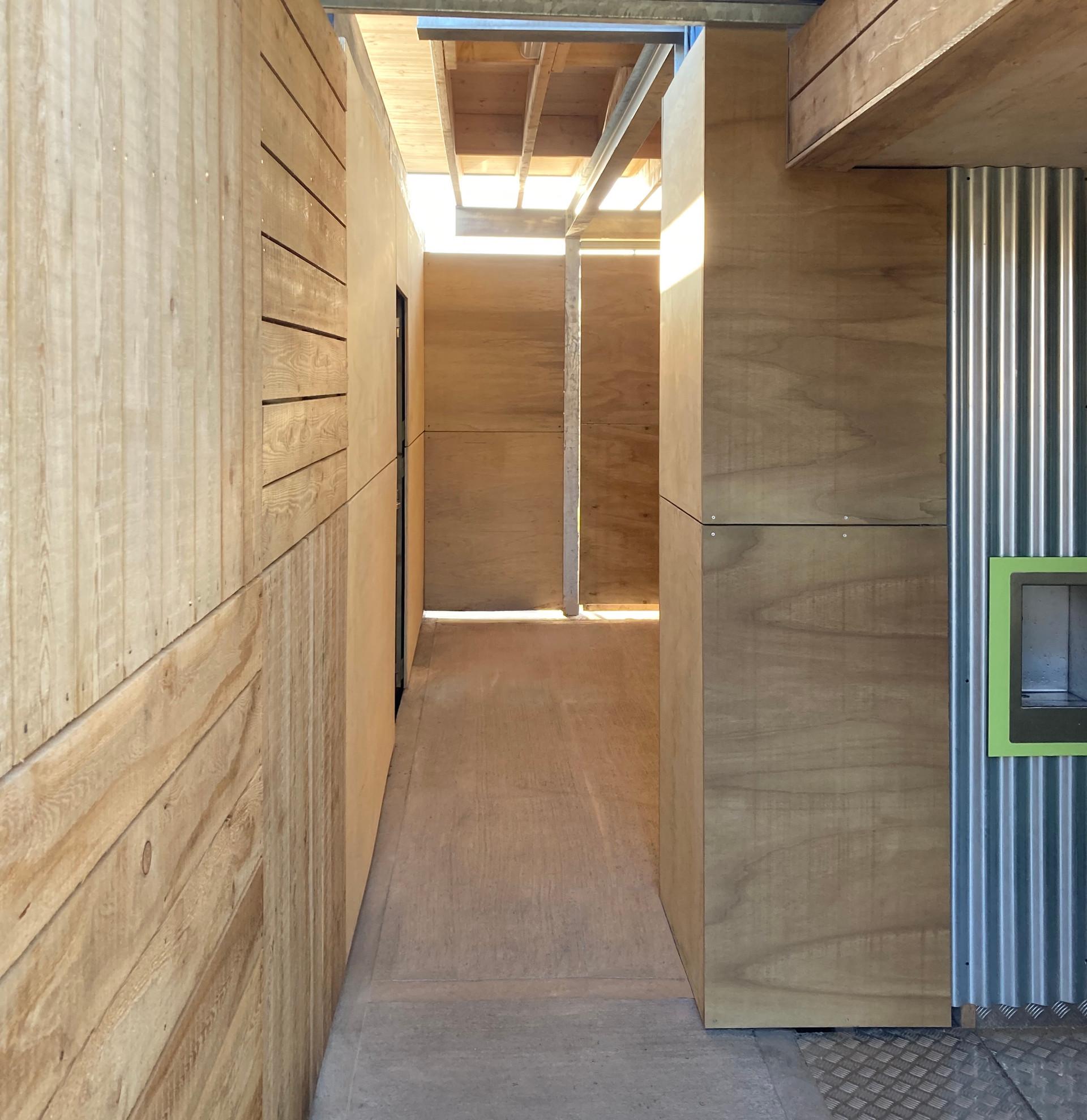 Coalface interior - to sliding doors