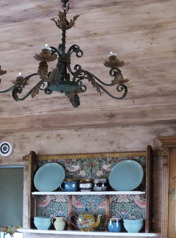 Treehouse kitchen chandelier