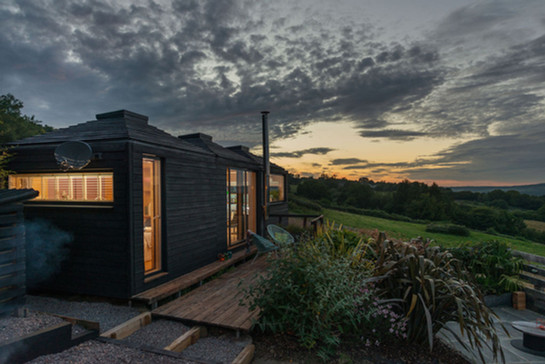 Modular Cabin - Pyramid Bothy - Red Kite exterior 1