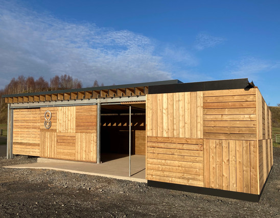 Visitors facility , Crawick Multiverse, designed and built by Echo Scotland