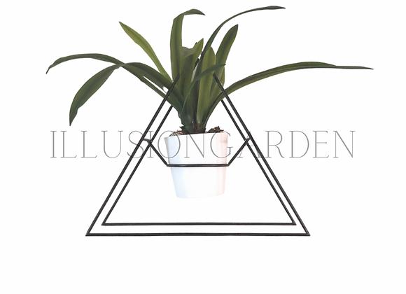 Soporte metal con maceta y planta Cymbidium