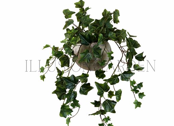 Planta artificial Colgante Yedra  en maceta redonda