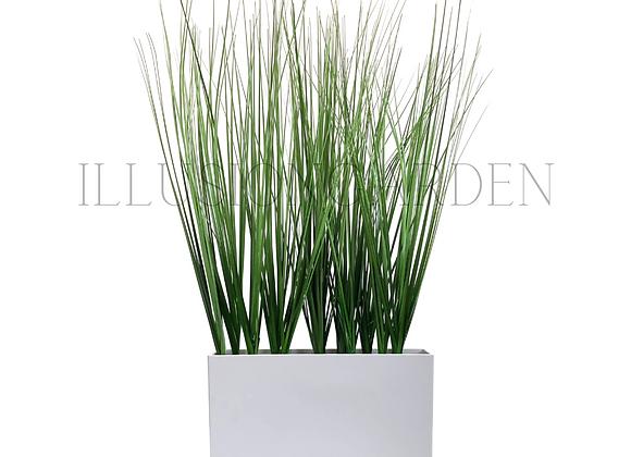 Planta artificial Grass 60 cm en maceta acrilica blanca