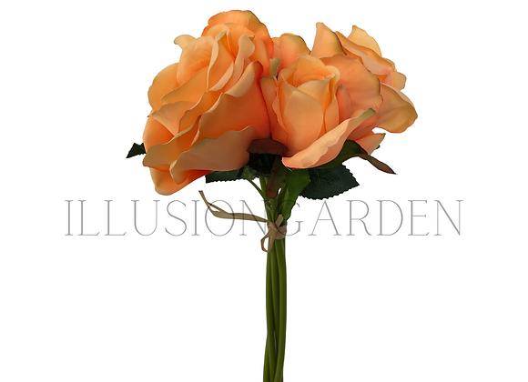 Rosas Salmón en Bouquet
