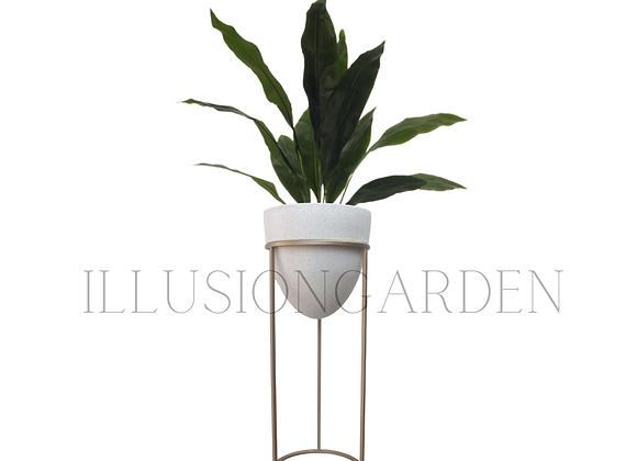 Planta artificial Aspidistra con maceta y pedestal 1.50 mt