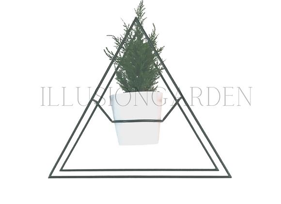 Planta artificial Soporte metal con maceta y planta mini Cipres