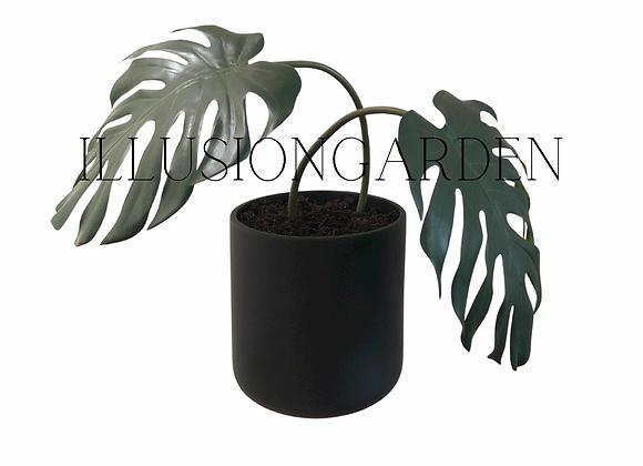 Planta artificial Monstera x 2 hojas