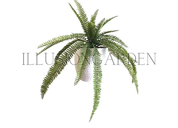 Planta artificial Helecho Fern en maceta blanca 19 cm. Planta artificial