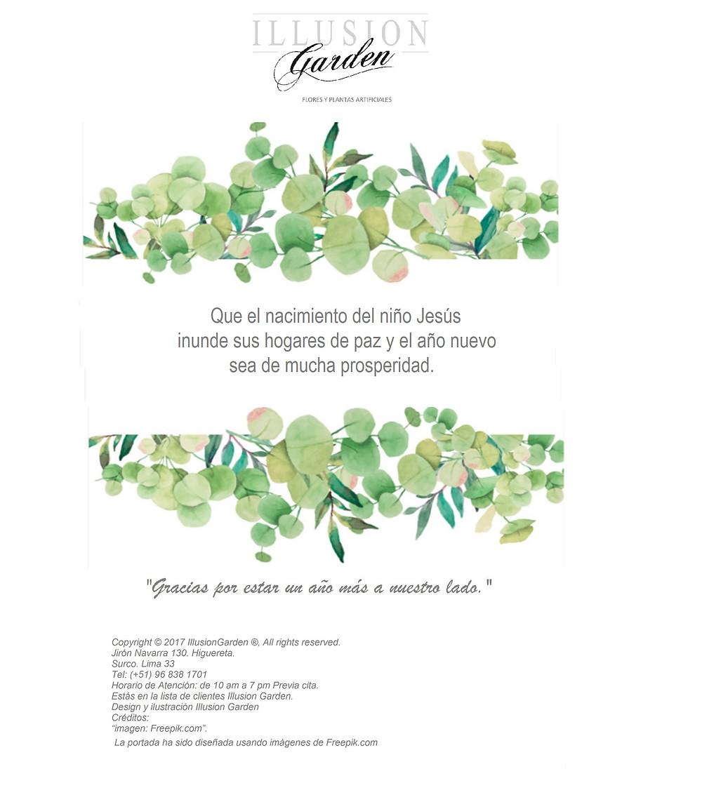 Tarjeta de Navidad Illusion Garden