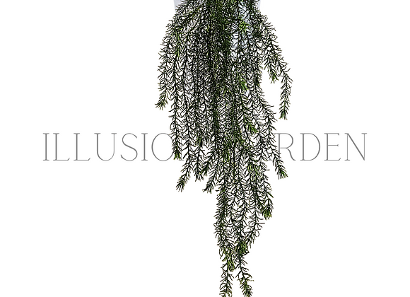 Planta artificial Springeri Large con maceta blanca 14x 14
