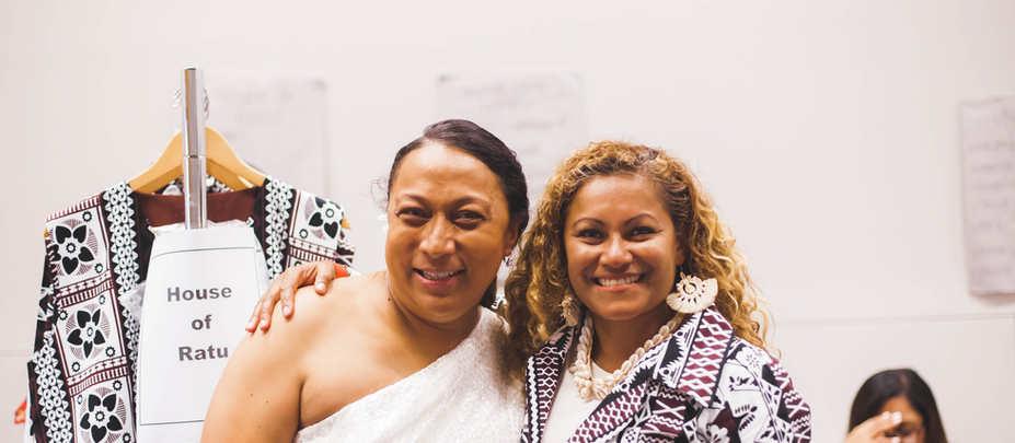 Unga Tupou, Vice President and Miriam Ratu Fairhead, Secretary and Designer for House of Ratu