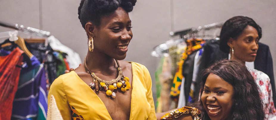 Mercy Woods and designer for SKJ. Sarah Jackson.