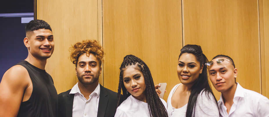 Gorgeous bunch of our models backstage, Raima, Ezra, Percilla, Stephanie and Anthony