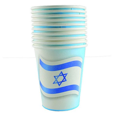 Flag of israel party cups