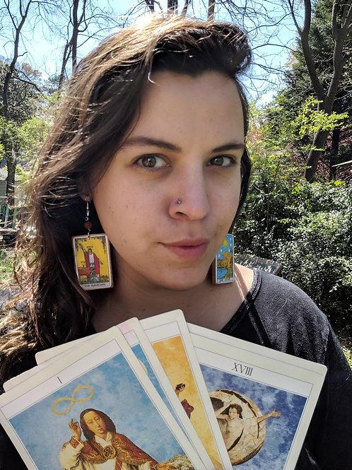 Tarot Card Reading + Tarot EarringPair