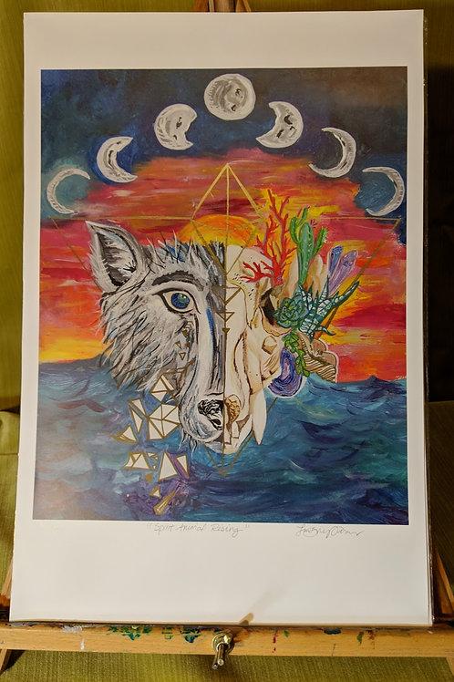 """""""Spirit Animal Rising"""" 12 x 18 Art Print"""