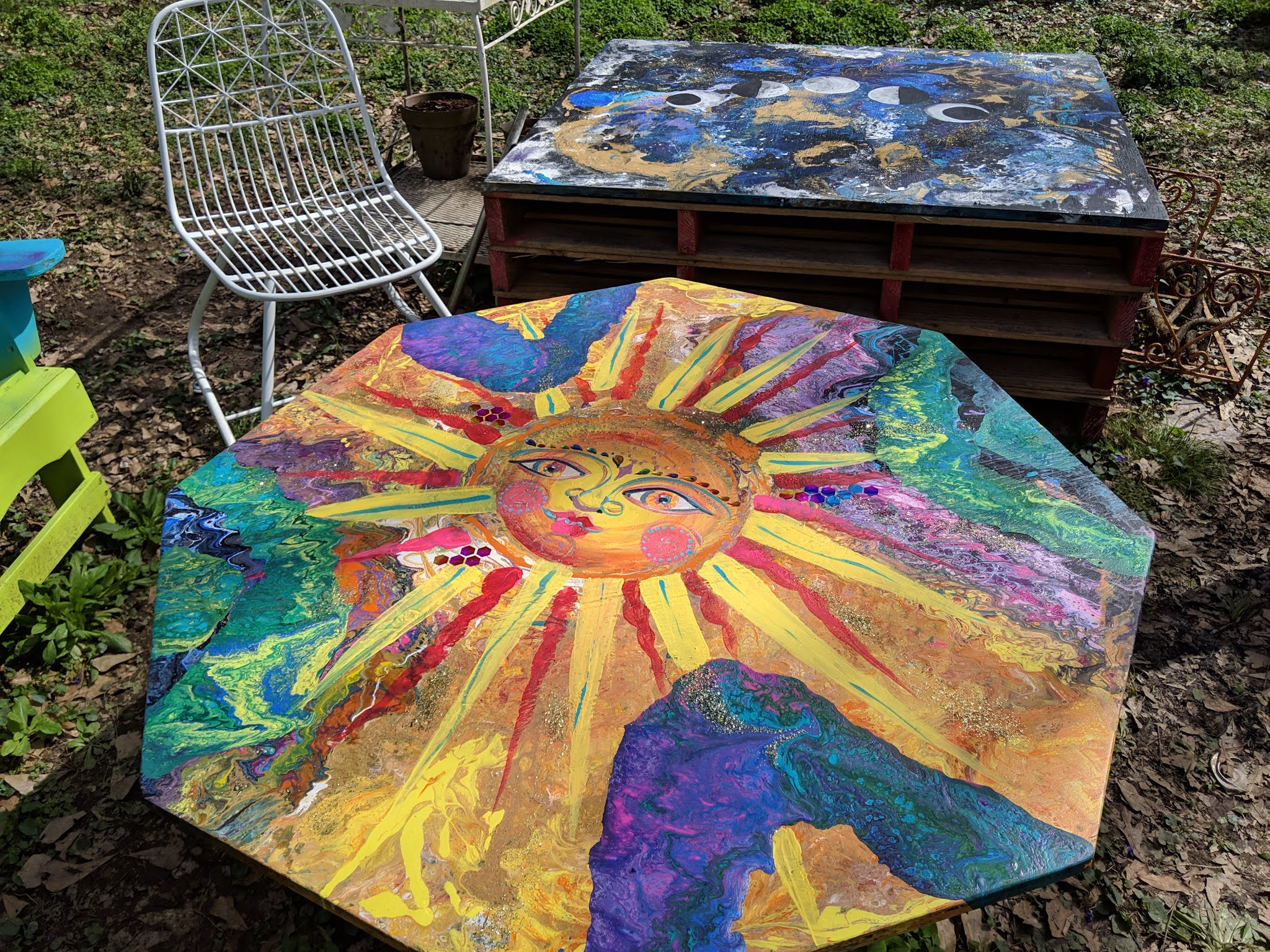 Sun Energy Fire-pit Table topper