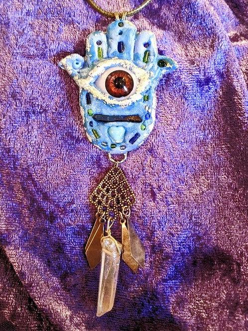 Hamsa Eye Necklace