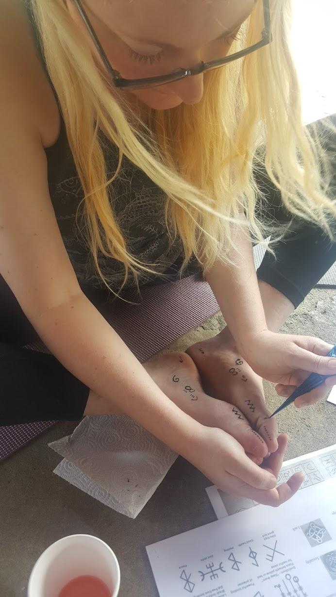 Honoring Earth through Foot Henna