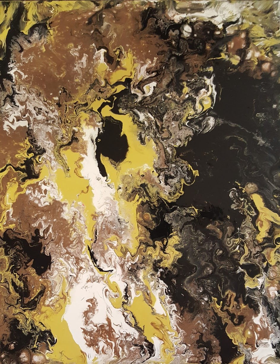 Eclipse Energetic Abstract Pour