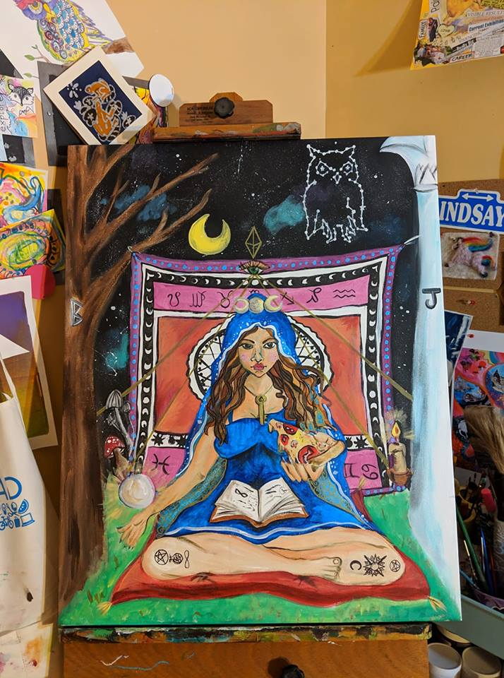 The High Priestess painting