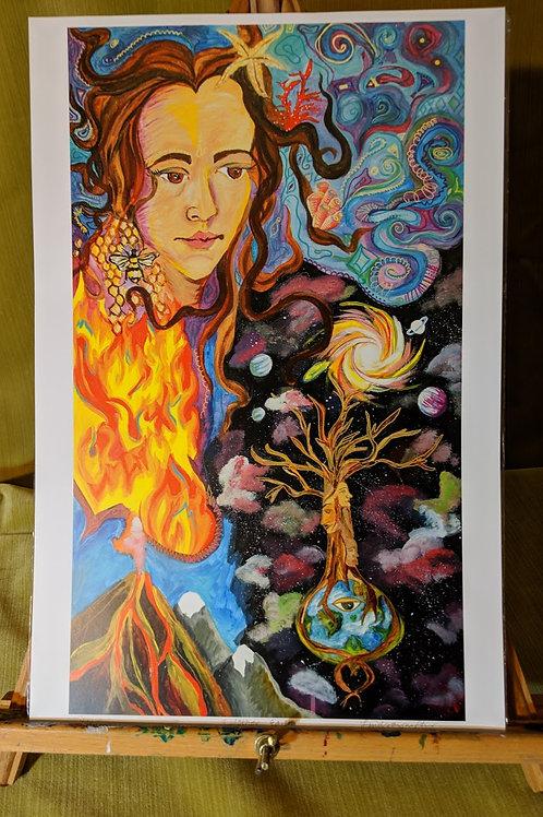"""Mother Nature"" 12 x 18 Art Print"