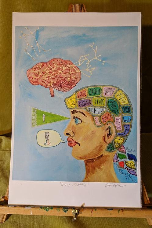 """Brain Mapping"" 12 x 18 Art Print"