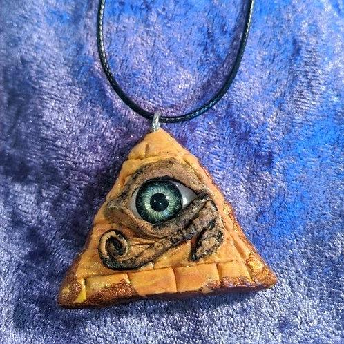 Pyramid Eye Necklace