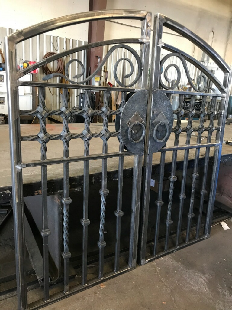 Custom Forged Entry Gate
