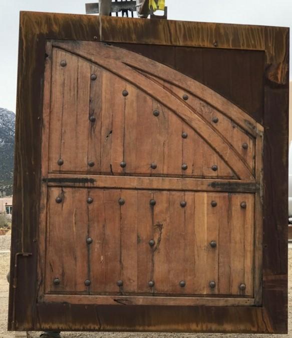 Custsomer Wood & Metal Barn Door