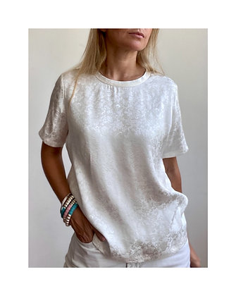 Dragon Tee- Shirt en coton et soie