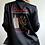 Thumbnail: La Rockeuse, veste brodée en soie noire