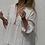 Thumbnail: Blouse plissée en coton et tencel détail en brocart