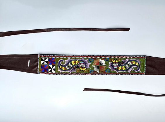 Miao Embroideries and Leather Belt