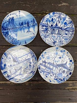 Set de 4 assiettes en porcelaine par Filipe Jardim