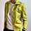 Thumbnail: La Frivole, chemise courte en brocart fleuri vert anis