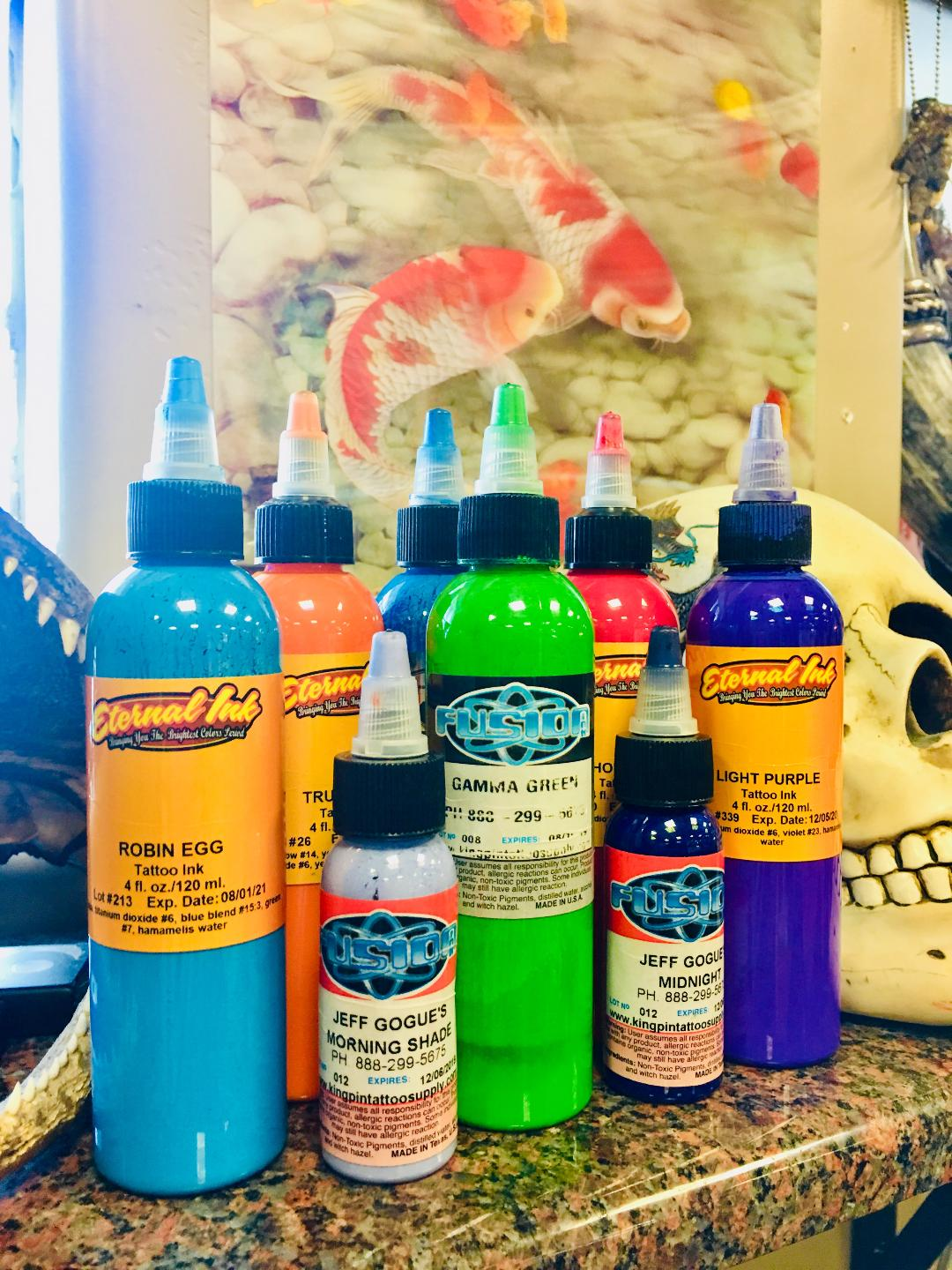some of the quality tattoo ink used
