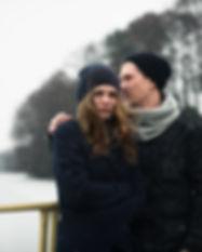 Couple en hiver Paysage
