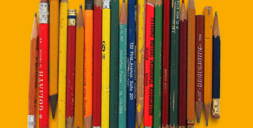 ONE RANDOMLY SELECTED USED PENCIL