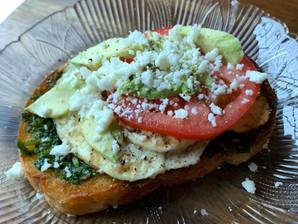 Best Breakfast Sandwich with EIEIO Cilantro Pecan Pesto