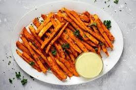Sweet Potatoe Fries and EIEIO GARLIC AIOLI!