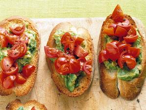 Avocado Toast w/ Pesto & Bruschetta