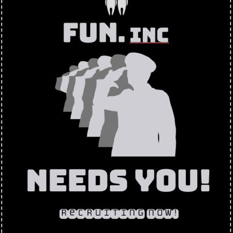 The Big FUN Recruitment Drive!