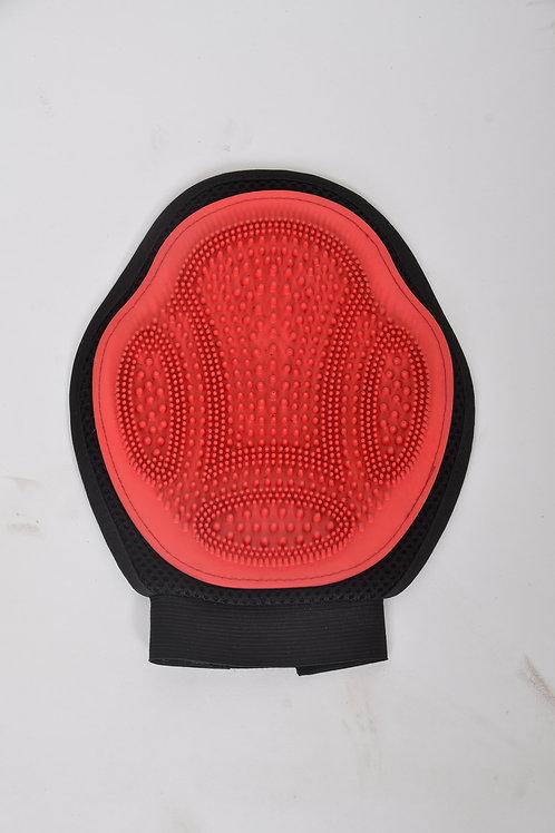 """Grubber - RED/BLK, Massage glove, 7""""x9"""""""