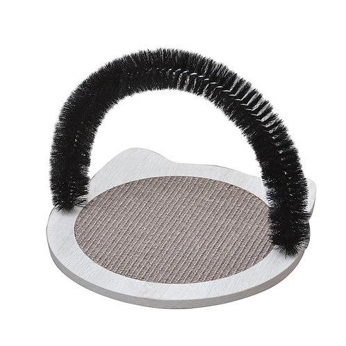 Nifty cat massager with scratching pad